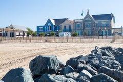 Playa de la arena en Francia fotografía de archivo