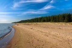 Playa de la arena en Latvia Imagen de archivo