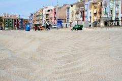 Playa de la arena en Villajoyosa Fotografía de archivo libre de regalías