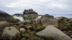 Playa de la arena, Stonington, Maine Imagenes de archivo