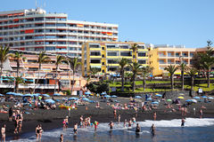 Playa de la Arena, Tenerife, Canary Islands, Spain Royalty Free Stock Photography