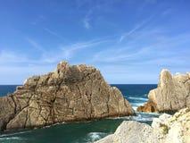 Playa de la Arnía Royalty Free Stock Photos