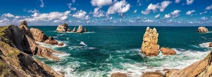 Playa de la Arnia stockfotografie