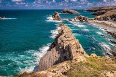 Playa de la Arnia fotografía de archivo libre de regalías