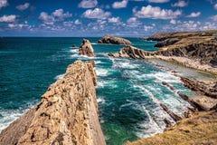 Playa de la Arnia stock photography