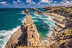 Playa de la Arnia royalty free stock photo
