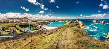 Playa de la Arnia stock image