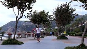 Playa de la avenida en Turquía almacen de video