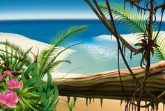 Playa de la bahía stock de ilustración