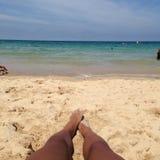 Playa de la bahía de Carbis Fotos de archivo libres de regalías