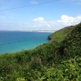 Playa de la bahía de Carbis Foto de archivo