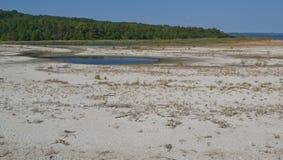 Playa de la bahía de Chesapeake y piscinas de marea Fotos de archivo libres de regalías
