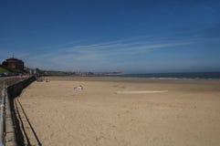 Playa de la bahía de Colwyn Imagen de archivo libre de regalías