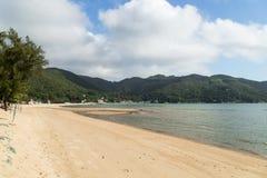 Playa de la bahía de Silvermine en la isla de Lantau en Hong Kong Fotografía de archivo