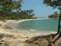 Playa de la bahía de Tayrona Fotos de archivo libres de regalías