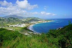 Playa de la bahía de la fragata en St San Cristobal Imágenes de archivo libres de regalías