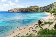 Playa de la bahía de Hanauma - Oahu Hawaii fotografía de archivo libre de regalías