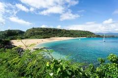 Playa de la bahía de Waimea - Oahu, Hawaii foto de archivo