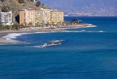 Playa De La Caletilla, Almunecar, Andalusia Immagini Stock