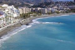 Almunecar, Andalusia, Spain. Playa De La Caletilla, Almunecar, Andalusia, Spain Stock Image
