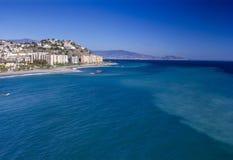 Playa De La Caletilla, Almunecar, Andalusia. Spain Stock Photos