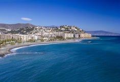 Playa De La Caletilla, Andalusia, Spagna Fotografie Stock Libere da Diritti