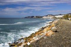 Playa De La Caletilla, Andalusia, Spagna Immagine Stock Libera da Diritti