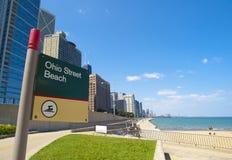 Playa de la calle de Ohio, Chicago Imagenes de archivo