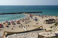 Playa de la ciudad en Ashkelon Imagen de archivo