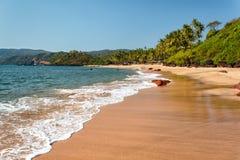 Playa de la cola, Goa del sur, la India Imagen de archivo libre de regalías