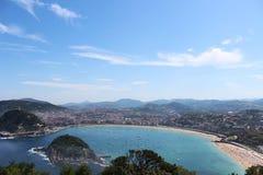 Playa de la Concha, ¡ n Sans Sebastià Lizenzfreies Stockbild
