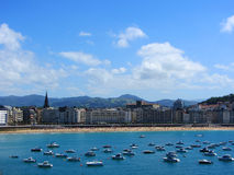 Playa de la Concha in San Sebastian, Spain Stock Photography