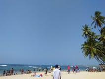 Playa de la diversión de la foto natural srilanquesa Imagenes de archivo