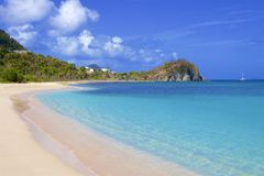 Playa de la ensenada del contrabandista en Tortola, el Caribe fotos de archivo