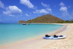 Playa de la ensenada del contrabandista en Tortola, el Caribe imagenes de archivo