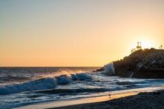 Playa de la ensenada del sicómoro Imagenes de archivo