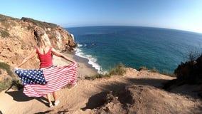 Playa de la ensenada de los piratas de California almacen de video