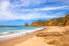 Playa de la entrada de Aireys en el gran camino del océano Fotografía de archivo