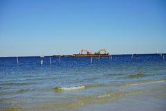 Playa de la Florida St Petersburg: plataforma Fotografía de archivo libre de regalías