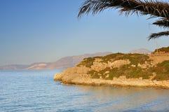 Playa de la isla de Creta Imagenes de archivo