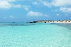 Playa de la isla de Creta Fotos de archivo libres de regalías