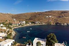 Playa de la isla de Kythnos Foto de archivo