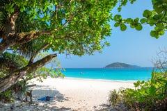 Playa de la isla de Similan Koh Miang en el parque nacional, Tailandia Foto de archivo libre de regalías
