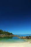 Playa de la luna de miel en la bahía de Jervis Fotos de archivo