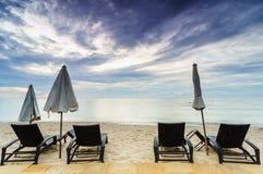Playa de la mañana Fotos de archivo libres de regalías