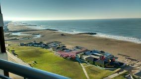 Playa de la mañana imagen de archivo