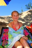Playa de la muchacha Fotos de archivo libres de regalías
