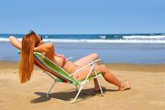 Playa de la mujer Foto de archivo