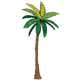 Playa de la naturaleza del ejemplo del diseño de la historieta del icono de la bestia del árbol de coco Fotos de archivo