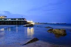 Playa de la noche HUAHIN Fotos de archivo